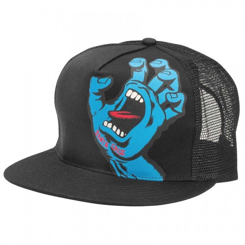 Santa Cruz Screaming Hand Trucker Mesh Hat - Black - Men's Hat