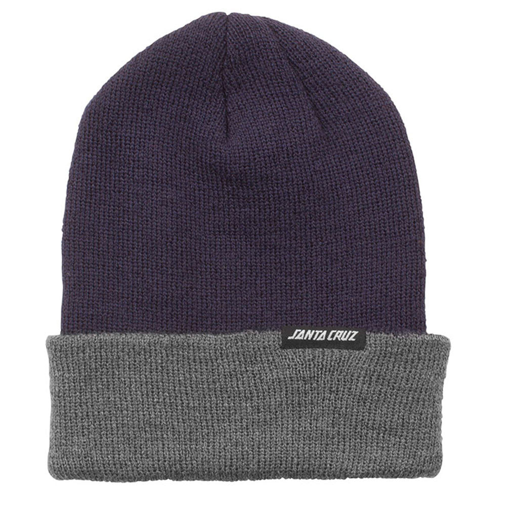 Santa Cruz Strip Long Shoreman - OS - Navy Heather - Men's Beanie