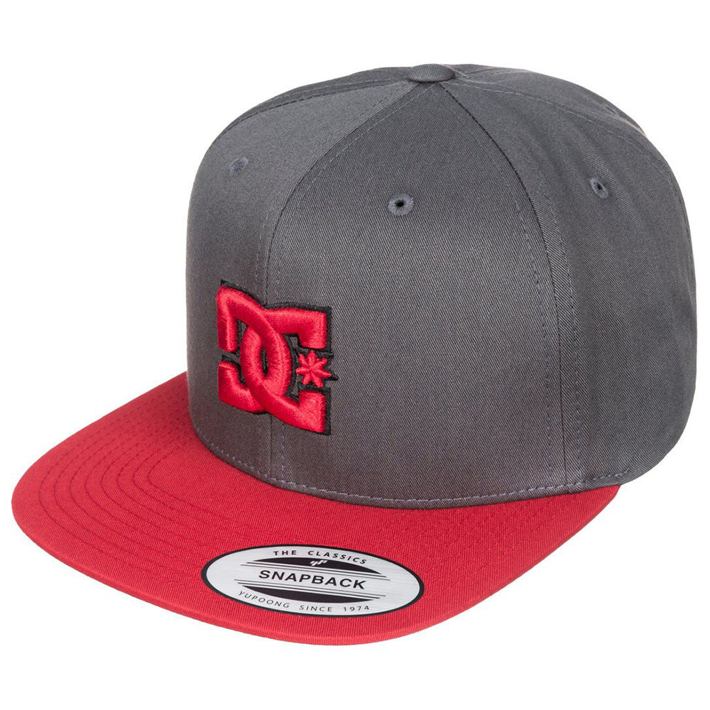 DC Snappy Snapback - Black/Black/Red XKKR - Men's Hat