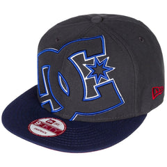 DC Double Up Snapback - Black/Black/Blue XKKB - Men's Hat