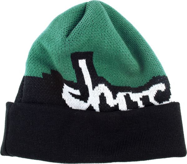 Chocolate Mega Chunk Fold - Black/Green - Men's Beanie