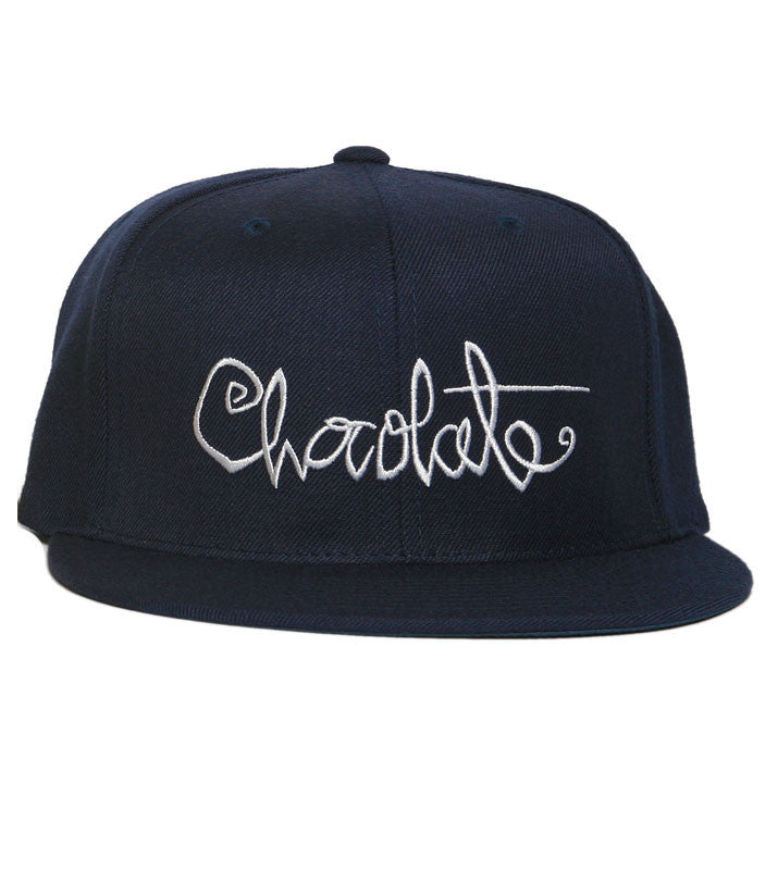 Chocolate Script Strapback - Navy - Men's Hat