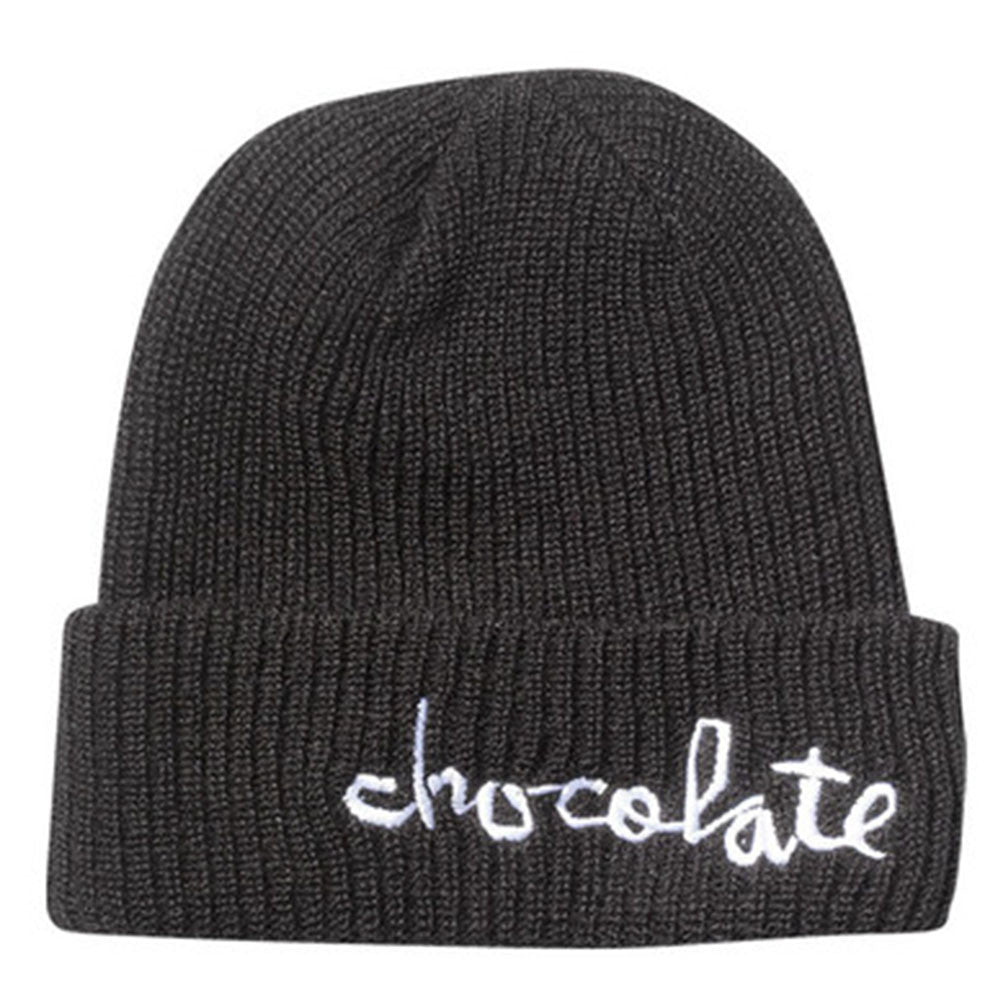 Chocolate Big Chunk Folded - Black - Men's Beanie