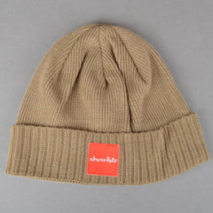 Chocolate Red Square Folded - Khaki - Men's Beanie