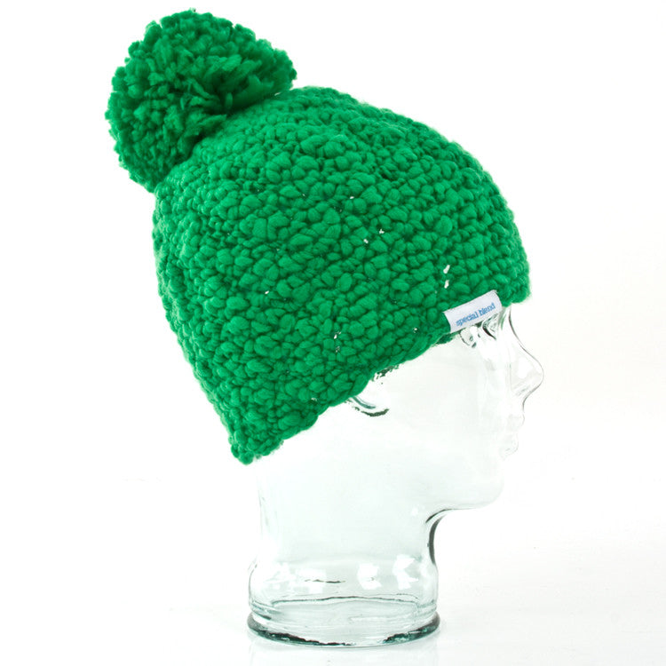 Special Blend Pom Pom - One Size Fits All - Green Crew - Beanie