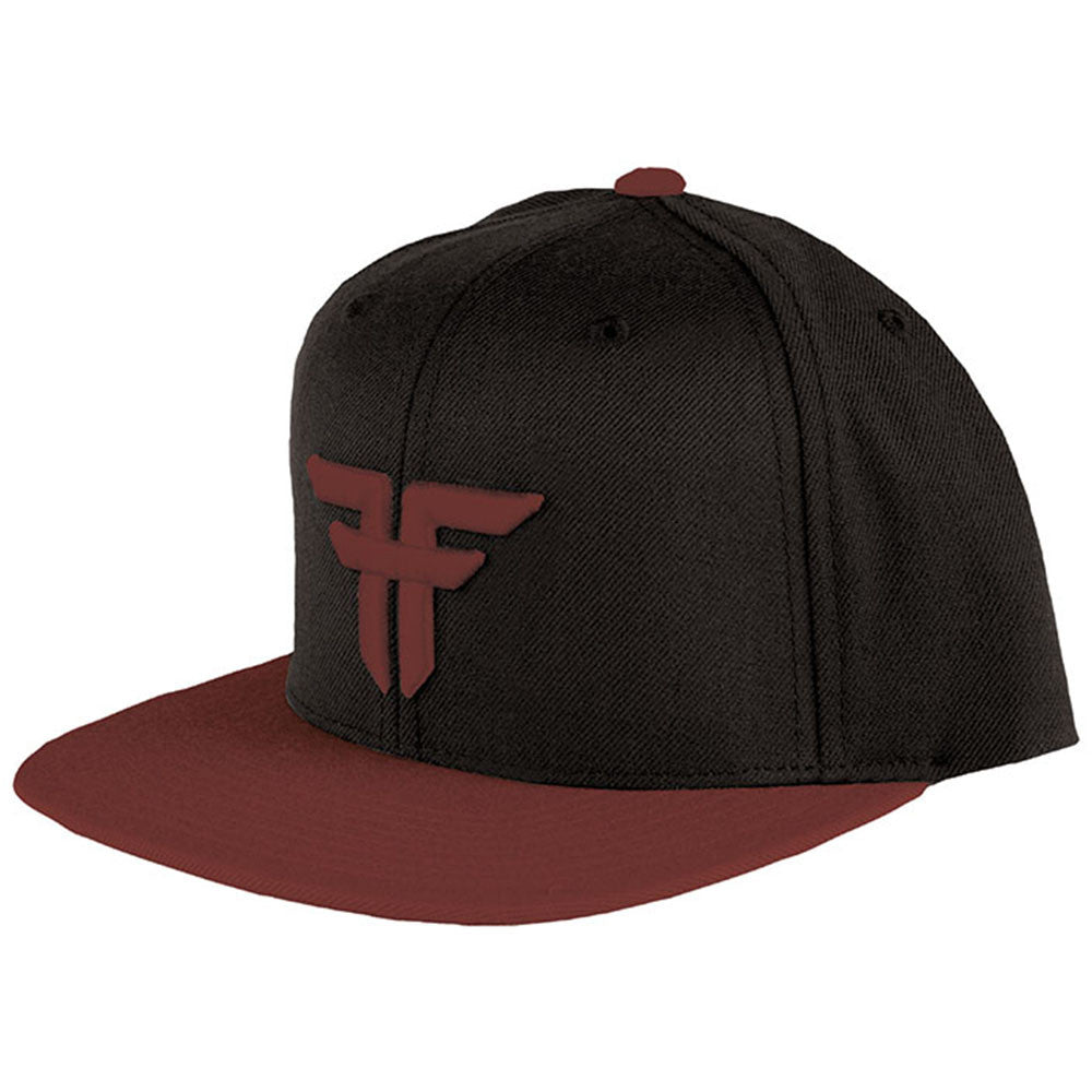 Fallen Trademark Starter Snapback - Black/Oxblood - Men's Hat