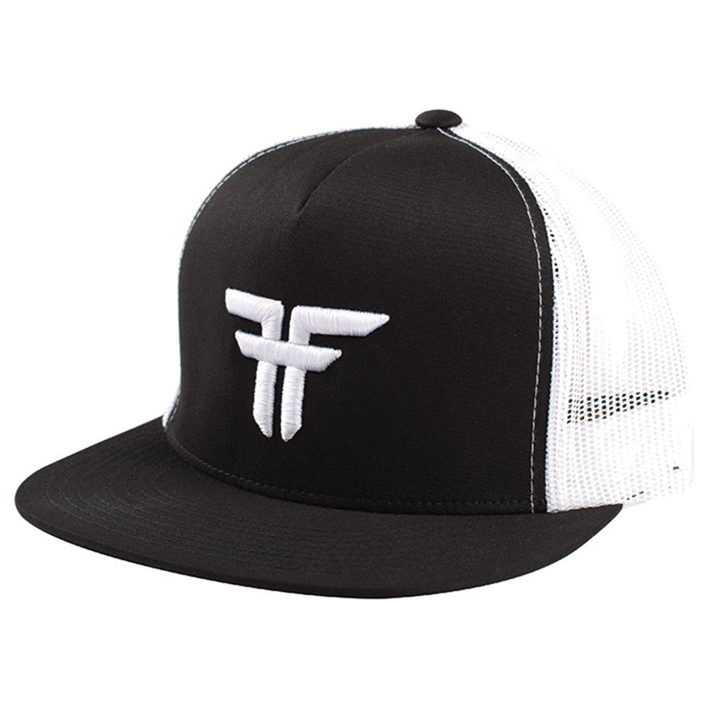 Fallen Trademark Embroidery Snapback - Black/White - Men's Hat