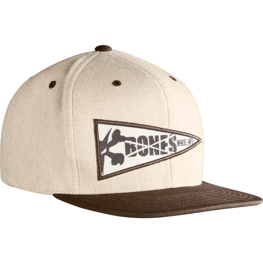 Bones Wool Penant Snapback - Black/White - Men's Hat