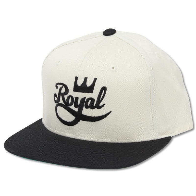 Royal Crown Script Snapback - Black/White - Men's Hat