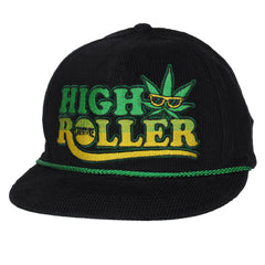 Creature High Roller Adjustable Corduroy Snapback - Black - Men's Hat