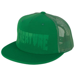 Creature Logo Stamp Trucker Mesh - Green - Men's Hat