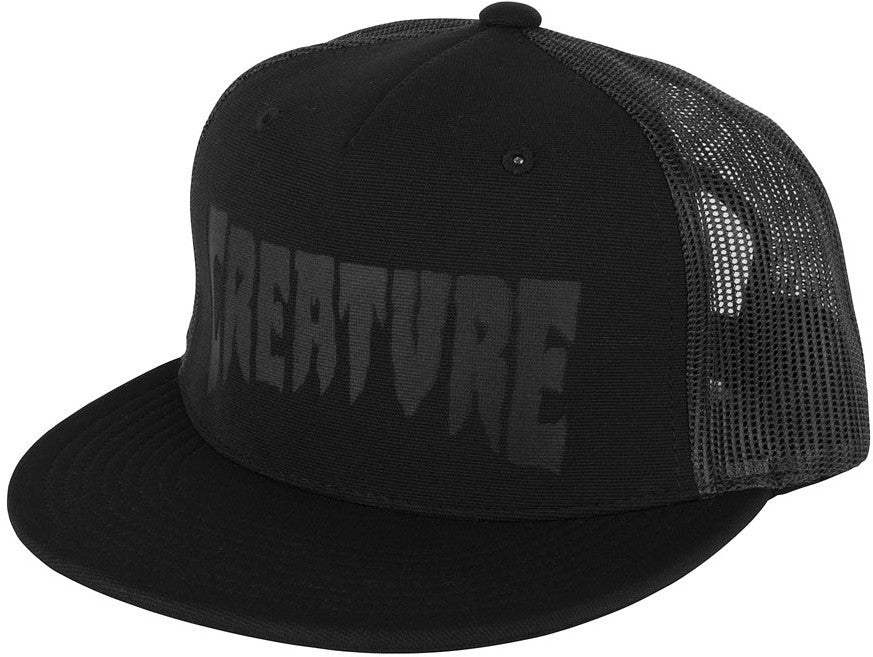 Creature Logo Stamp Trucker Mesh - Black - Men's Hat