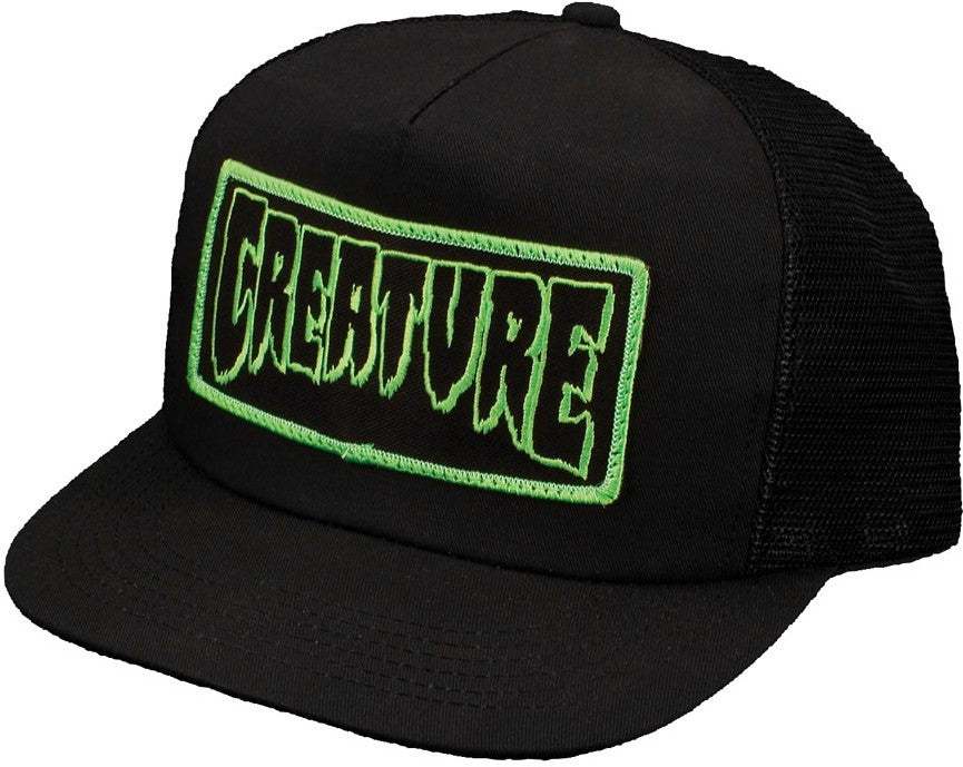 Creature Patch Trucker Mesh - Black - One Size Fits Most - Men's Hat