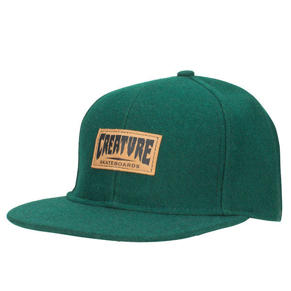 Creature Logo Wool - Forest - Adjustable Twill Snapback - Men's Hat