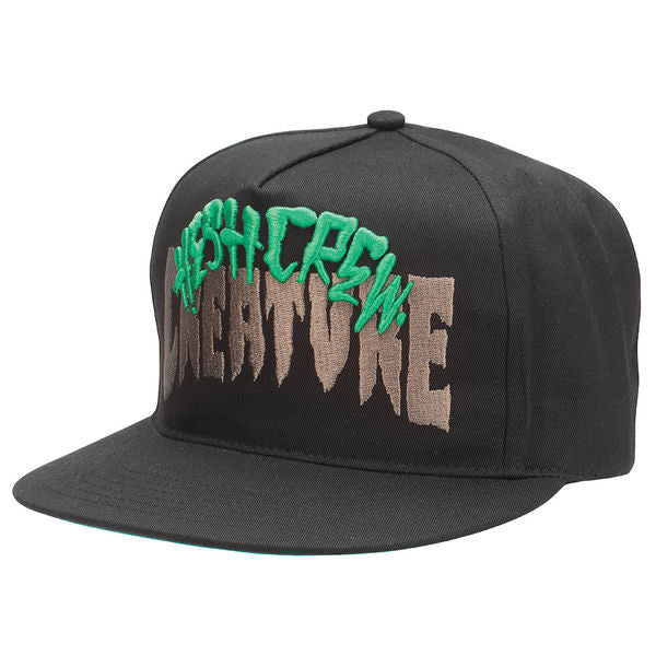 Creature Hesh Crew - Black - Adjustable Twill Snapback - Men's Hat