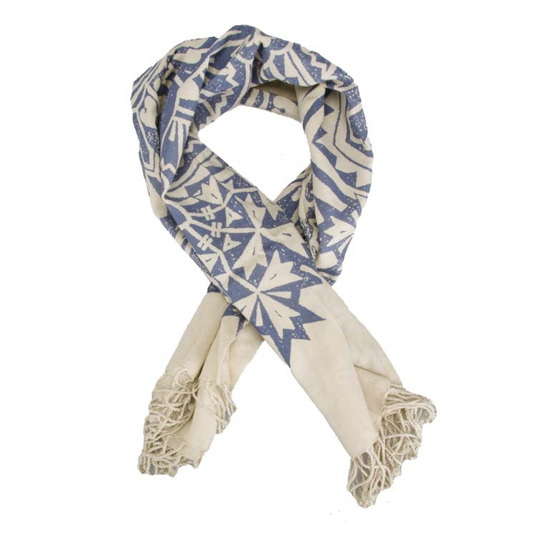 Obey Ornamental Scarf - Women's Scarf - Blue