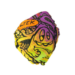 Celtek Scribble Face Mask Men's - Green Room - Face Wrap