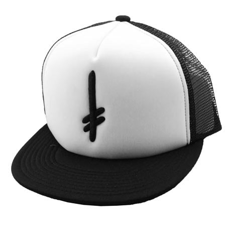 Deathwish Gang Mesh - Black/White - Men's Hat