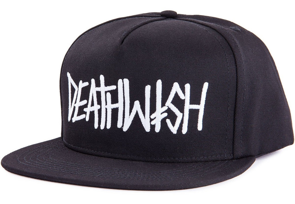 Deathwish Deathspray Snapback - Black/White - Men's Hat
