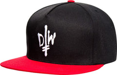 Deathwish DW Street Spray Snapback - Black/Red - Men's Hat