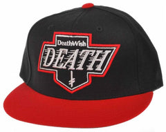 Deathwish Death Kings Snapback - Black/Red - Men's Hat