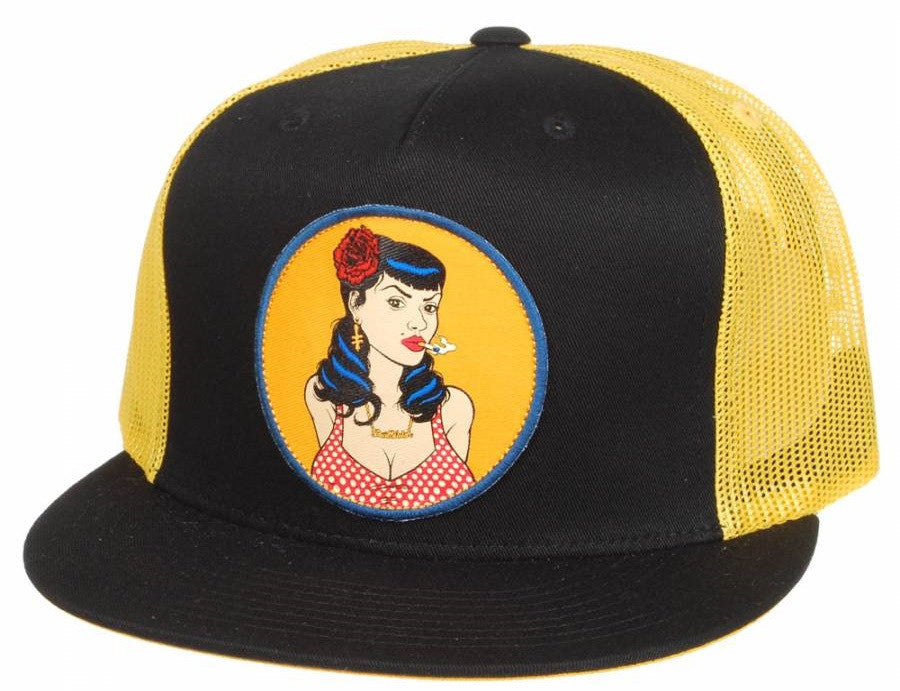 Deathwish East Side Trucker - Black/Yellow - Men's Hat
