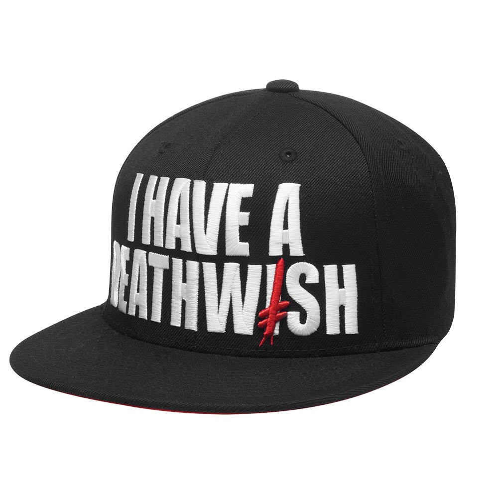 Deathwish I Have A Deathwish Snapback - Black/White - Men's Hat