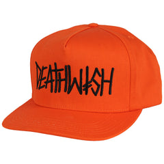 Deathwish Deathspray Snapback - Orange - Men's Hat