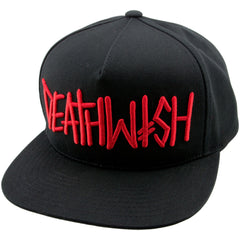 Deathwish Deathspray Snapback - Black/Red - Men's Hat
