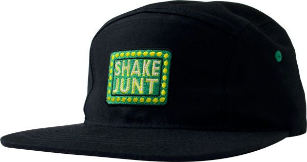 Shake Junt Box Logo 5 Panel Strapback - Black - Men's Hat