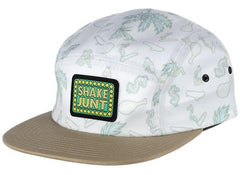 Shake Junt Casual Fridays Box 5 Panel Strapback - White - Men's Hat