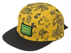 Shake Junt Casual Fridays Box 5 Panel Strapback - Yellow - Men's Hat