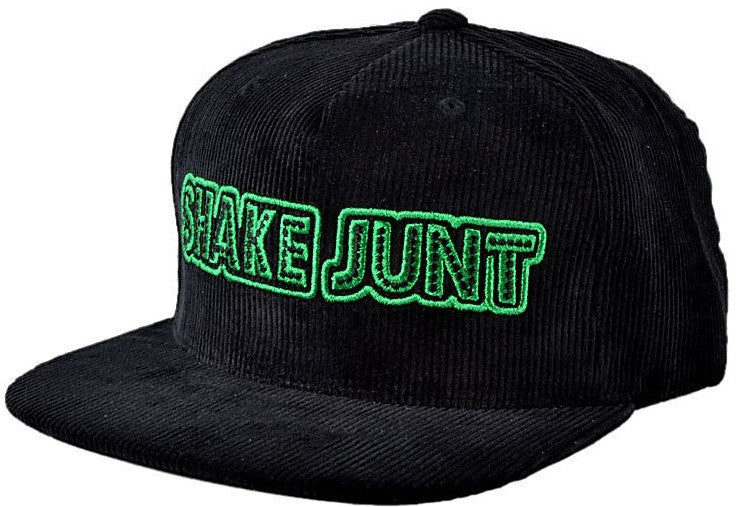 Shake Junt Stretch Logo Snapback - Black/Green - Men's Hat