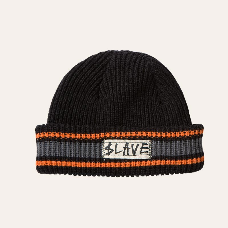 Slave Striped - Black/Grey/Orange - Beanie