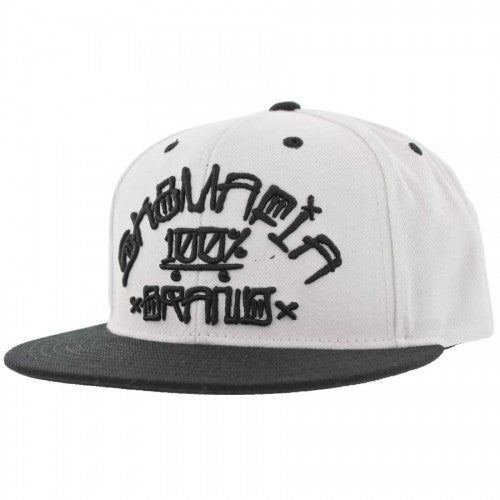Sk8mafia 100% Por Vida Adjustable Snap - White - Men's Hat