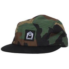 Sk8mafia Premium Adjustable 5 Panel Twill Strapback - Woodland Camo - Men's Hat