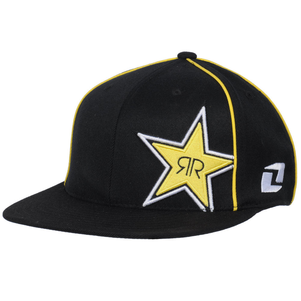 Rockstar Logo FlexFit - Black/Yellow - Men's Hat