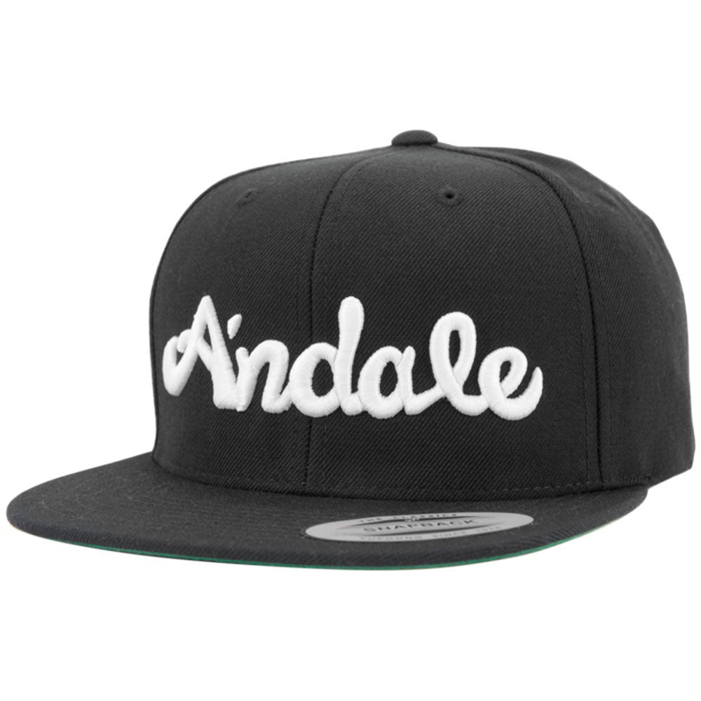 Andale Script - Black/White - Men's Hat
