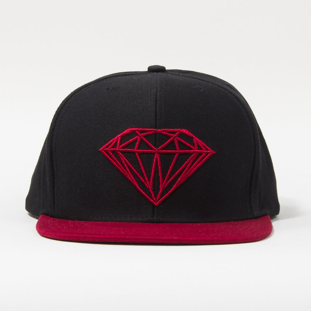 Diamond Brilliant Snapback - Black/Red - Men's Hat