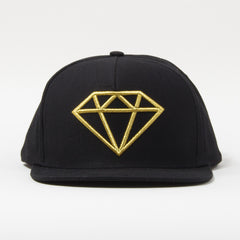 Diamond Rock Logo Snapback - Black/Gold - Men's Hat