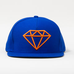Diamond Rock Logo Snapback - Royal/Orange - Men's Hat