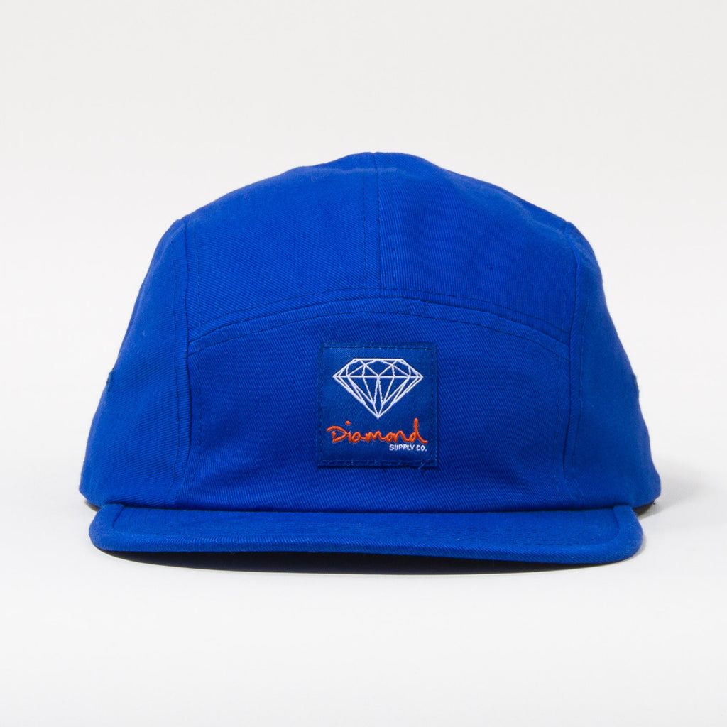 Diamond OG Sign 5-Panel Camp Hat Strapback - Navy - Men's Hat Strapback