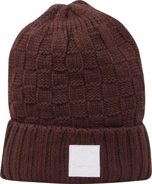 Diamond OG Checker - Brown - Men's Beanie