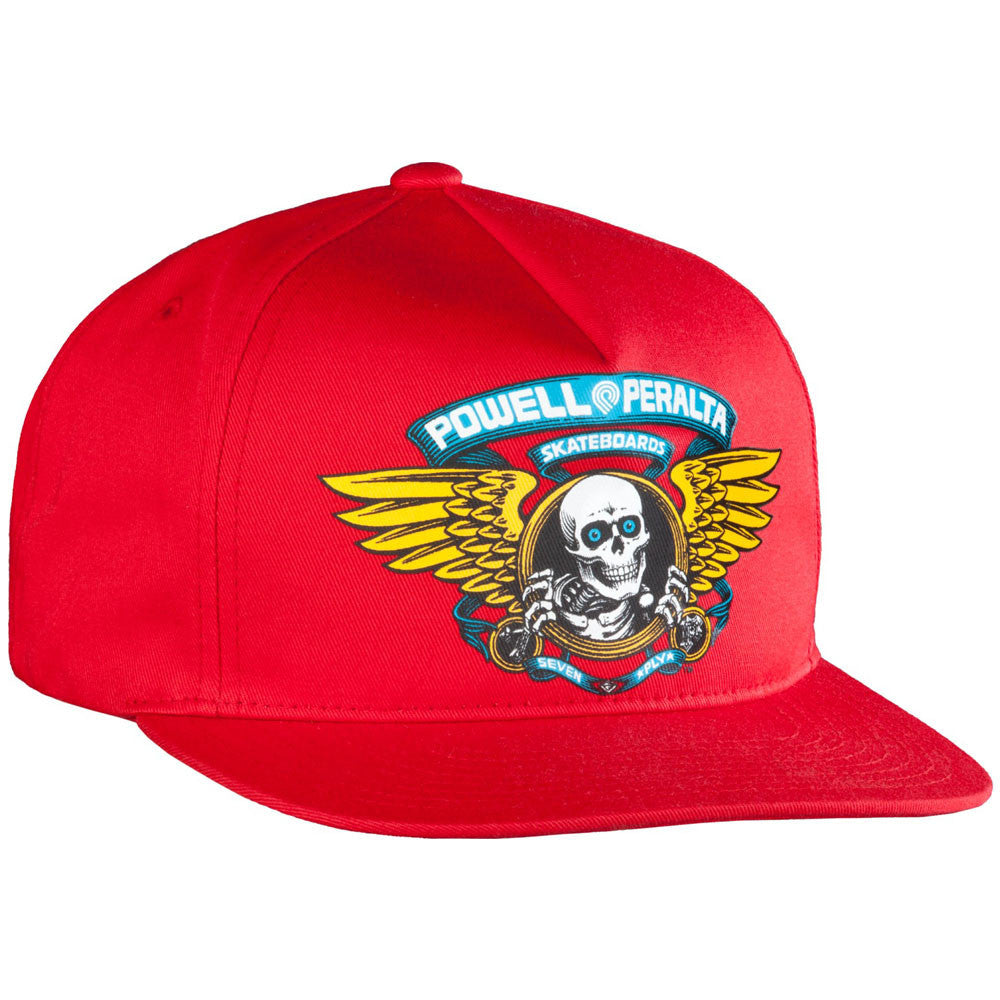 Powell Peralta Winged Ripper Snapback - Red - Hat