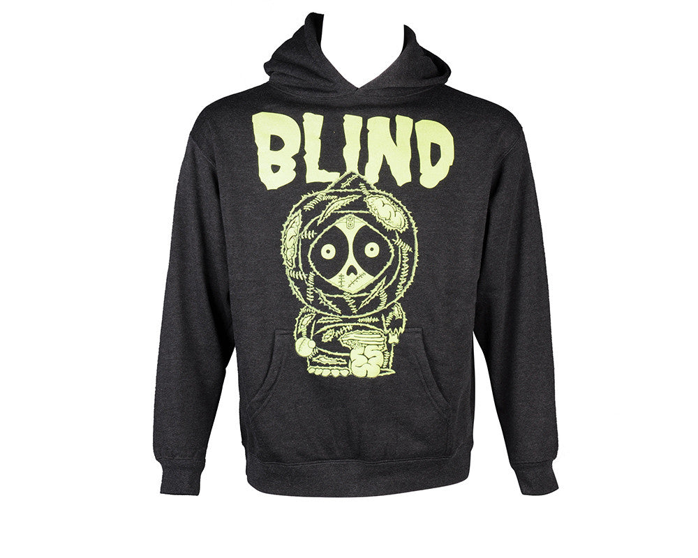 Blind Zombie P/O Hoodie - Youth - Charcoal - Youth Sweatshirt