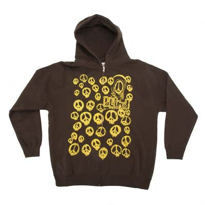 Blind Peace Skulls Brown - Youth Sweatshirts - Brown