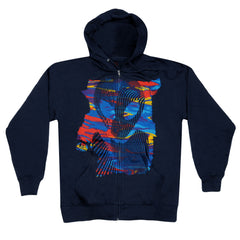 Alien Workshop Vortex Hoodie Full Zip - Navy - Mens Sweatshirt
