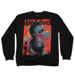 Alien Workshop Believe Overlord Crew - Black - Men's Sweatshirt