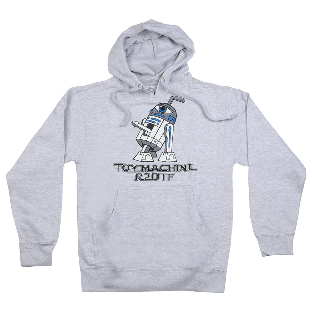 Toy Machine R2DTF Pullover Hoodie - Grey Heather - Men's Sweatshirt