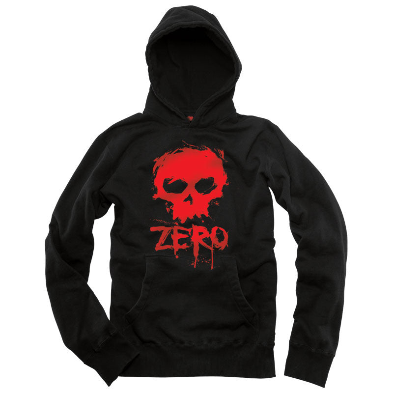 Zero Blood Skull Pullover Hood - Black - Sweatshirt